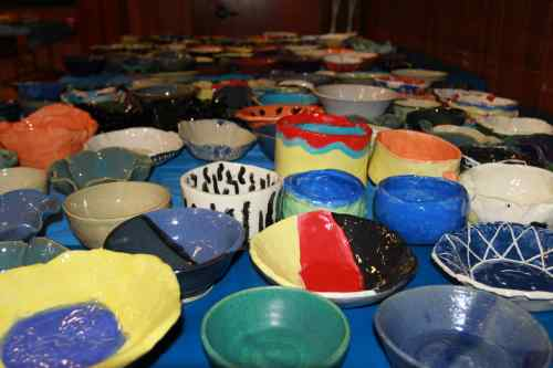 Empty Bowls picture of bowls  2012